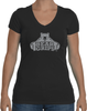 Women's Sporty V-Neck - Large Grey Logo-Women's Apparel-BearGrips