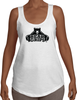 Women's Terry Racerback Tank - Large Black Logo-Women's Apparel-BearGrips