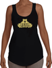 Women's Terry Racerback Tank - Large Gold Logo-Women's Apparel-BearGrips