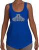 Women's Terry Racerback Tank - Larger Grey Logo-Women's Apparel-BearGrips
