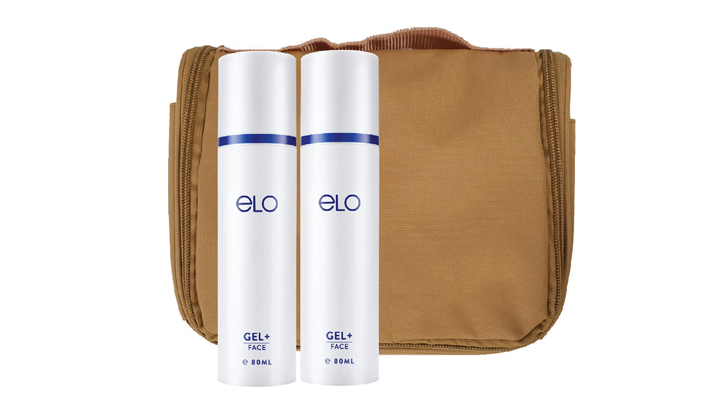 ELO Gel+ 80ml (Twin Pack) with Travel Pouch (Earth Brown)