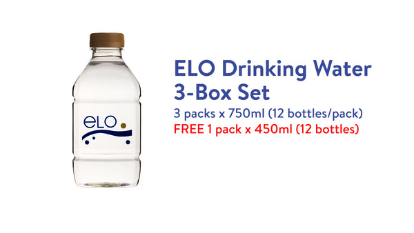 ELO Drinking Water 3-Box Set (750ml)