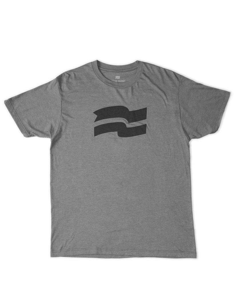 FLAG TEE GREY/BLACK