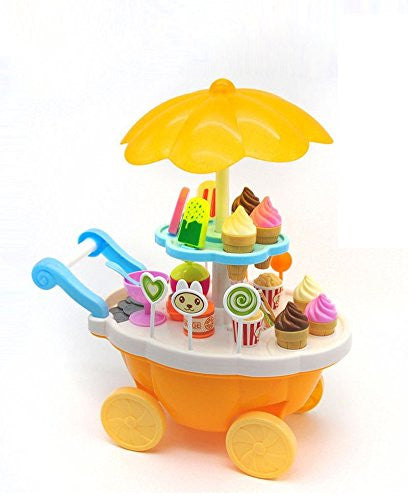 Ice cream play cart kitchen set with lights and music for Cream kitchen set