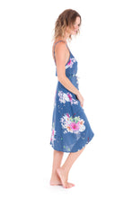 Jade High Low Dress in Blue Floral by KAYVALYA