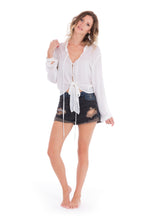 Kate Boho Blouse in White by KAYVALYA