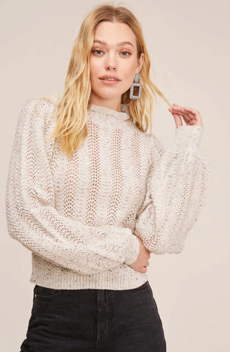 Brynn Mock Neck Sweater | ASTR