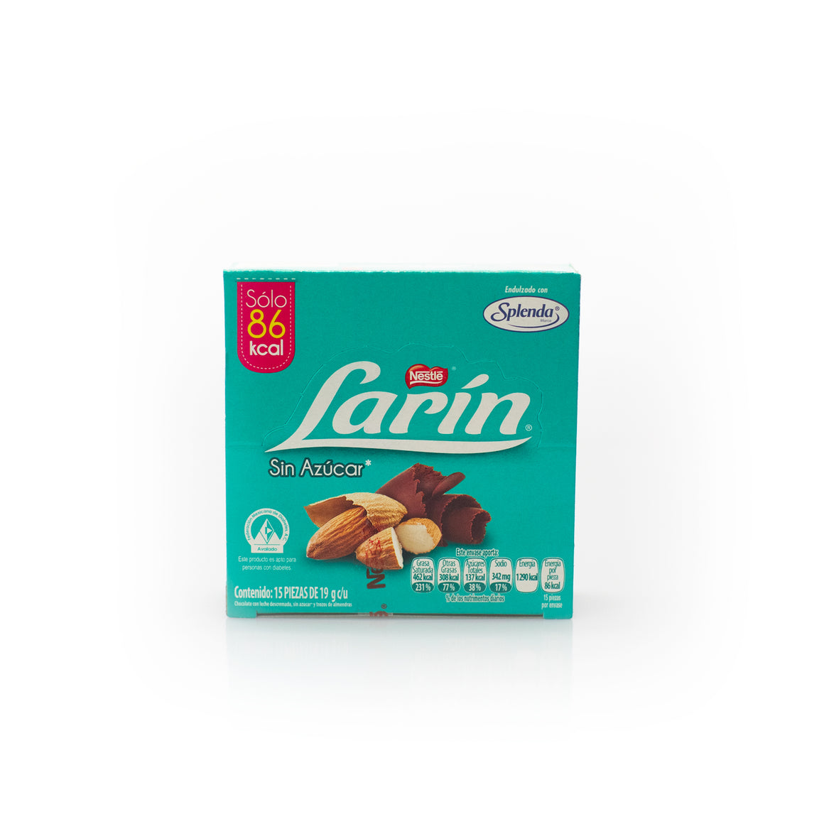 Larín Chocolate Almond Chocolate 15 Piece Bars Sugar Free