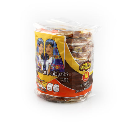 Mini Obleas con Cajeta Cabadas Pack with 10 Pieces