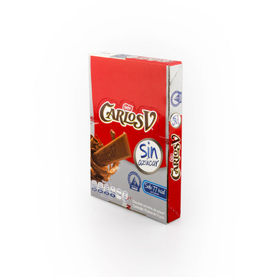 Carlos V Sugar Free Milk Chocolate 10 Pack