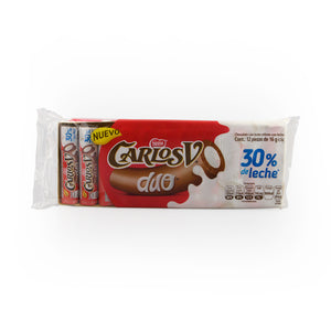 Carlos V Duo White and Milk Chocolate 12 Pieces
