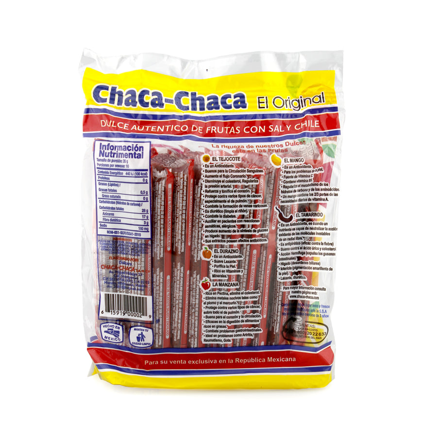 Chaca-Chaca Fruit Candy Bars 10 Pack