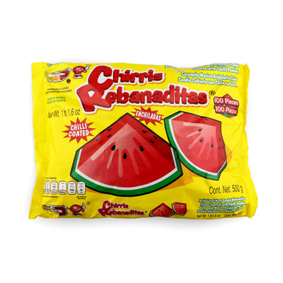 Chirris Rebanaditas 100 Pieces Chili Cover Watermelon Candy