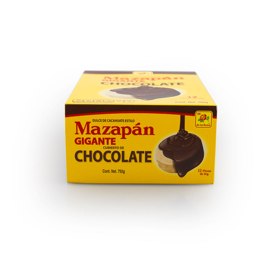 De La Rosa Mazapan Gigante Chocolate Cover 12 Pieces