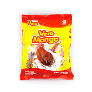 Dulces Vero Mango Paleta Lollipop 40 Pieces Bag