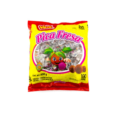 Dulces Vero Pica Fresa 100 Pieces per Bag