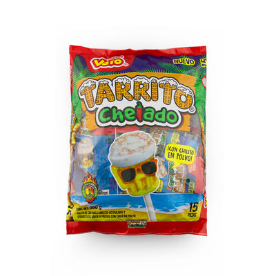 Dulces Vero Tarrito Chelado Lollipop with Chili Powder 15pcs
