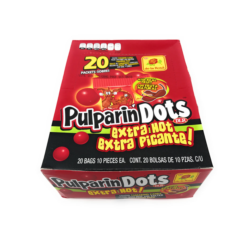 De La Rosa Pulparin Dots Extra Hot 20 Count Box