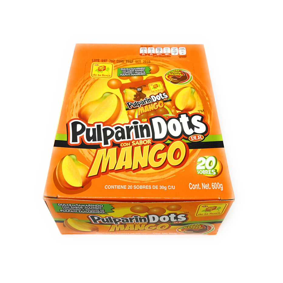 De La Rosa Pulparin Dots Mango 20 Count Box
