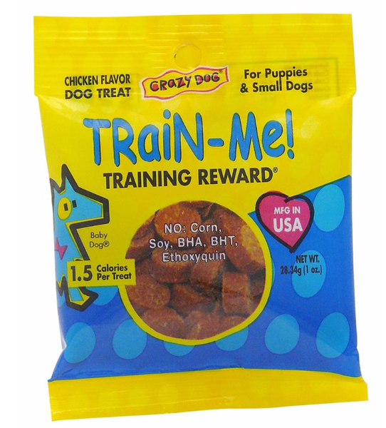Crazy Dog Train-Me Treats Chicken Flavor, 1 Ounce (30 Packs)