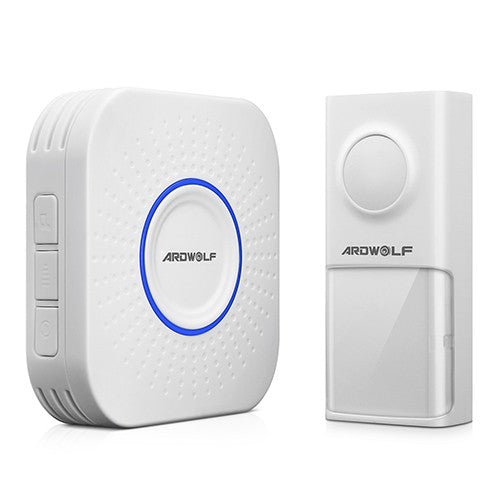 Ardwolf Wireless Doorbell System - 500 feet range with 58 Melodies with LED Notification (1 Doorbell + 1 Receiver) - ES Whosale