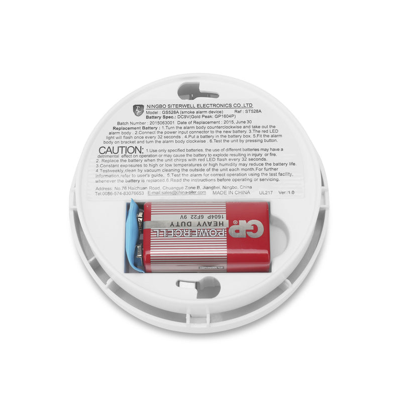 Ardwolf GS528A Battery-Powered Smoke and Fire Alarm with UL Listed-2 Pack