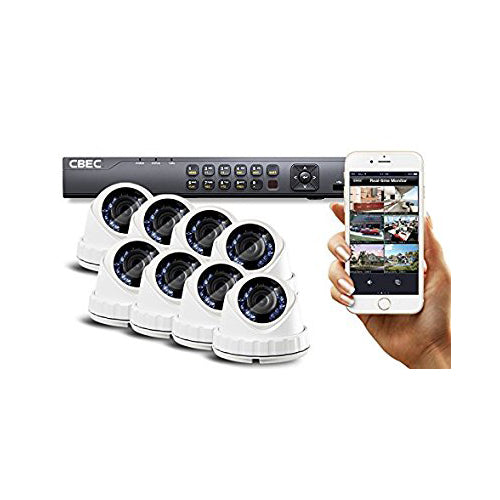 8 CH HD [Full 1080P] Security Camera System Remote iPhone Android APP HDMI Night Vision Wide Angle