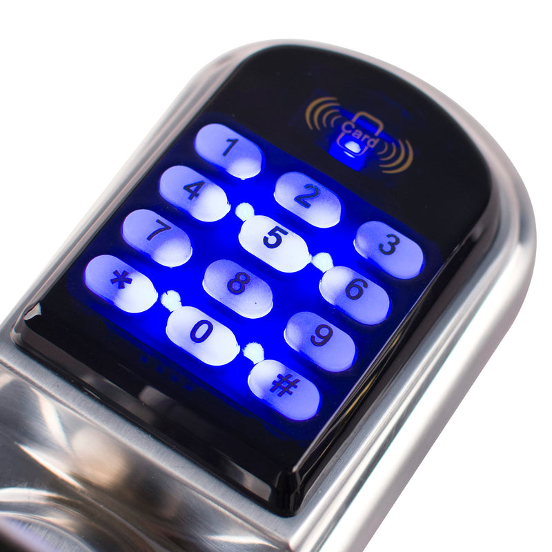 Ardwolf A30 Electronic Keyless Keypad Door Lock, Code + Mifare Card + Mechanical Key - ES Whosale