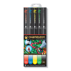 Chameleon Twin Tip G. Marker Set CT0502 5 Colors
