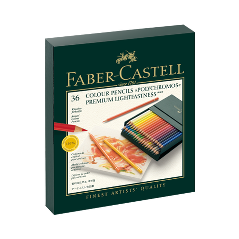 Faber Castell Colored Pencil Classic 110038 36Clrs Polychromos Box Case