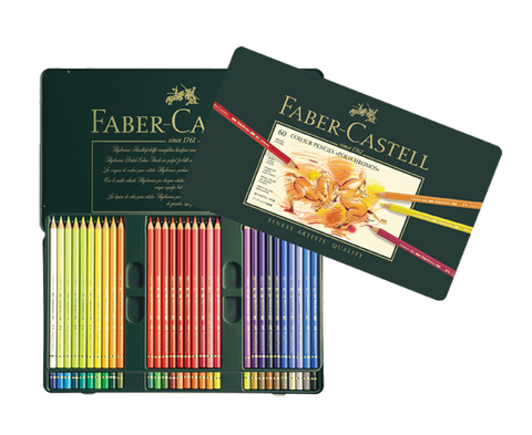 Faber Castell Colored Pencil Classic 110060 60Clrs Polychromos Metal Case