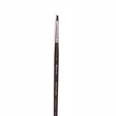 Raphael Brush No. 0 870 Short Flat Brush Synthetic Fibers For Acrylic Textura