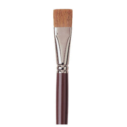 Raphael Brush No. 10 872 Short Flat Brush Red Sable Hair For Oil Fresco
