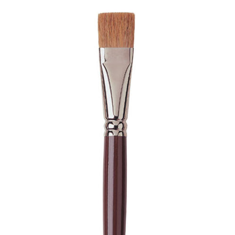 Raphael Brush No. 12 872 Short Flat Brush Red Sable Hair For Oil Fresco
