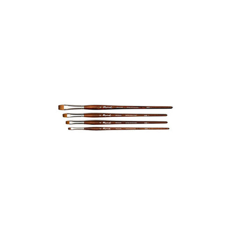 Raphael Brush No. 12 8938 Short Flat Brush Synthetic Sable For Acrylic Precision