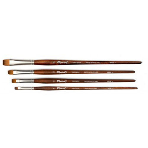 Raphael Brush No. 16 8938 Short Flat Brush Synthetic Sable For Acrylic Precision