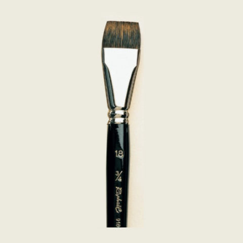 Raphael Brush No. 18 916 Flat Brush Squirrel Hair For Watercolor Petit Gris Extra Pur