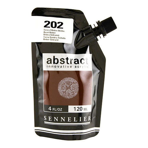 Sennelier Acrylic Color N121121 202 Burnt Umber Abstract 120Ml