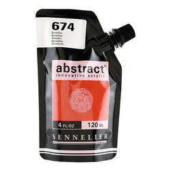Sennelier Acrylic Color N121121 674 Vermillion Abstract 120Ml