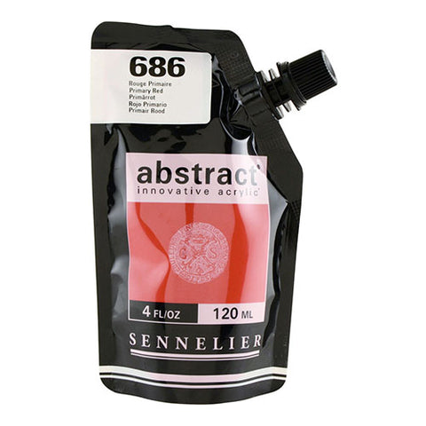 Sennelier Acrylic Color N121121 686 Primary Red Abstract 120Ml