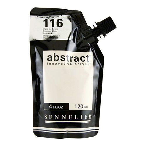 Sennelier Acrylic Color N121121 116B Titanium White Abstract 120Ml