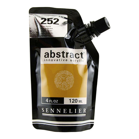 Sennelier Acrylic Color N121121 252B Yellow Ochre Abstract 120Ml