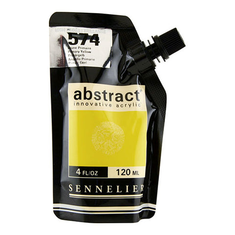 Sennelier Acrylic Color N121121 574B Primary Yellow Abstract 120Ml