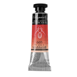 Sennelier Watercolor Tube N131501 605 S4 Cadmium Red Light Aquarelle 10Ml