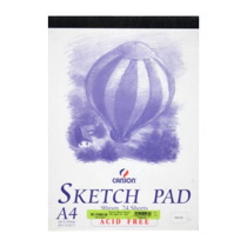 Canson Sketch Pad A3 24 Sheets 90GSM Balloon