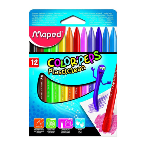 Maped Classic Crayon 12Clrs Colorpeps Plastic