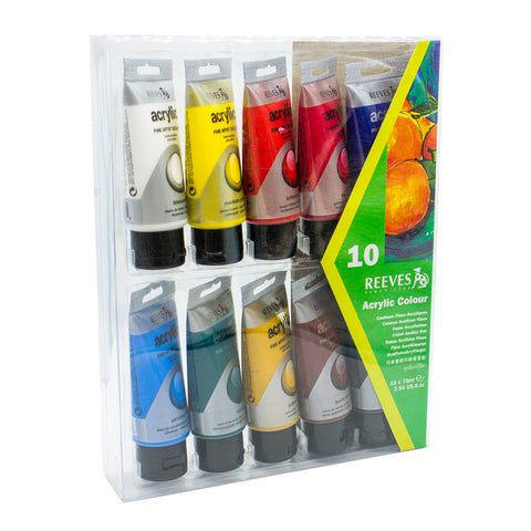 Reeves Acrylic Color 8340905 10 Colors 75ML
