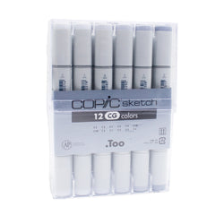 Copic Twin Tip Graphic Marker CG12 12 Colors Sketch Cool Gray