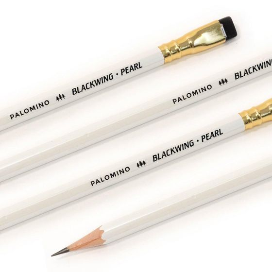 Blackwing Wooden Pencil 103782 Blkwing  White Pearl Finish Balance Graphite Blk Eraser