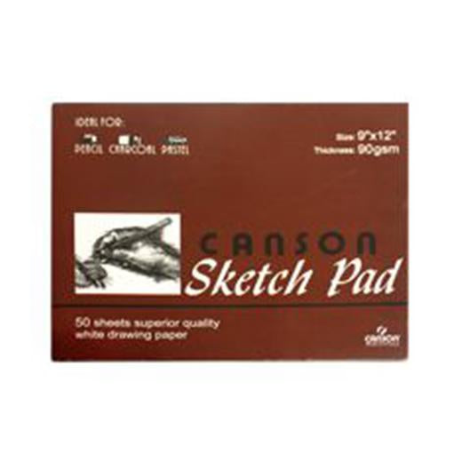 Canson Sketch Pad 9X12 50 Sheets Padded 90Gsm